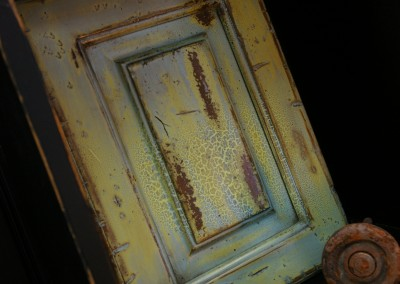 Multi-Step Painted Distressed Door